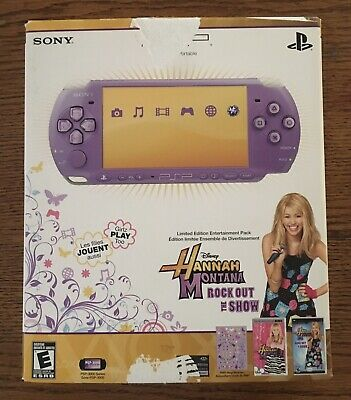 Sony PlayStation Portable PSP 3000 Hannah Montana Complete in Box Tested BONUS
