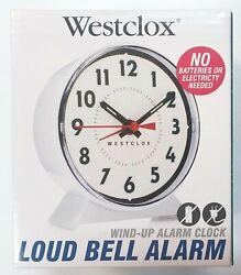 Westclox Wind-Up Alarm Clock Big Numbers Loud Bell No Batteries Analog Display