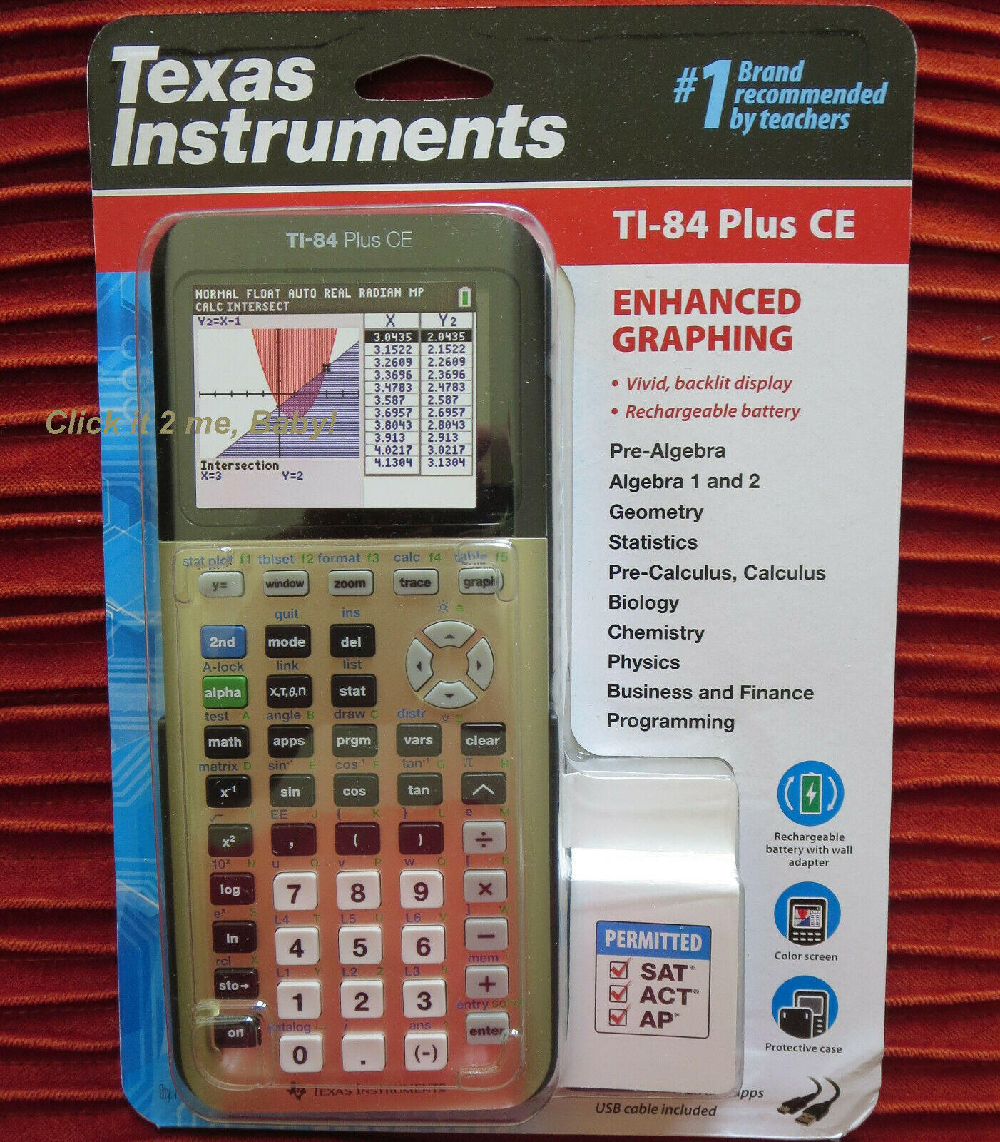 Texas Instruments TI-84 Plus CE Graphing Calculator - Impact