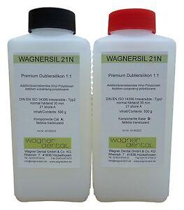 Silikonkautschuk Dubliersilikon Wagnersil 21NO  1:1 Abformsilikon farblos  1 Kg