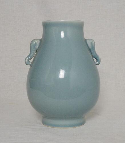 Chinese  Monochrome  Light  Blue  Glaze  Porcelain  Pot  With  MaRK     M2465