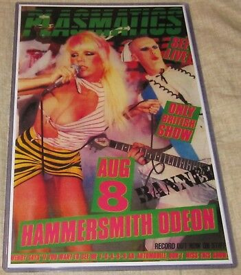 PLASMATICS WENDY O WILLIAMS 1980 HAMMERSMITH ODEON REPLICA CONCERT POSTER W/SLV