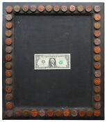 AAFA Folk Art Country Primitive Americana Frame Chalkboard Trade Sign Antique