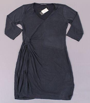 Abercrombie & Fitch Women's Long Sleeve Knot Front Dress BF5 Grey Large NWT Long Sleeve Knot Front Dress