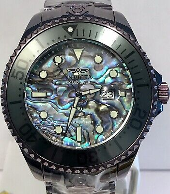 Invicta Abalone 54mm Grand Diver Pro Purple Case/Bracelet Automatic Mens Watch