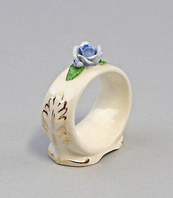 9959382 Porzellan 1 Serviettenring hellblau Rose gold Ens/ErnstBohne 6x2,5x6cm