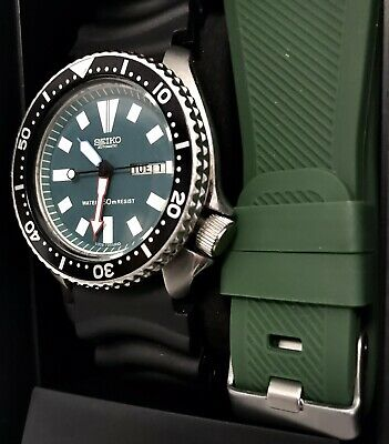 Vintage SEIKO Diver Automatic Deep Green Day|Date 6309-729A Box & 2 Watch Bands