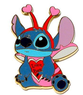 New LE Disney Pin Love Bug Lilo & Stitch Valentine's Day Halloween Costume Heart