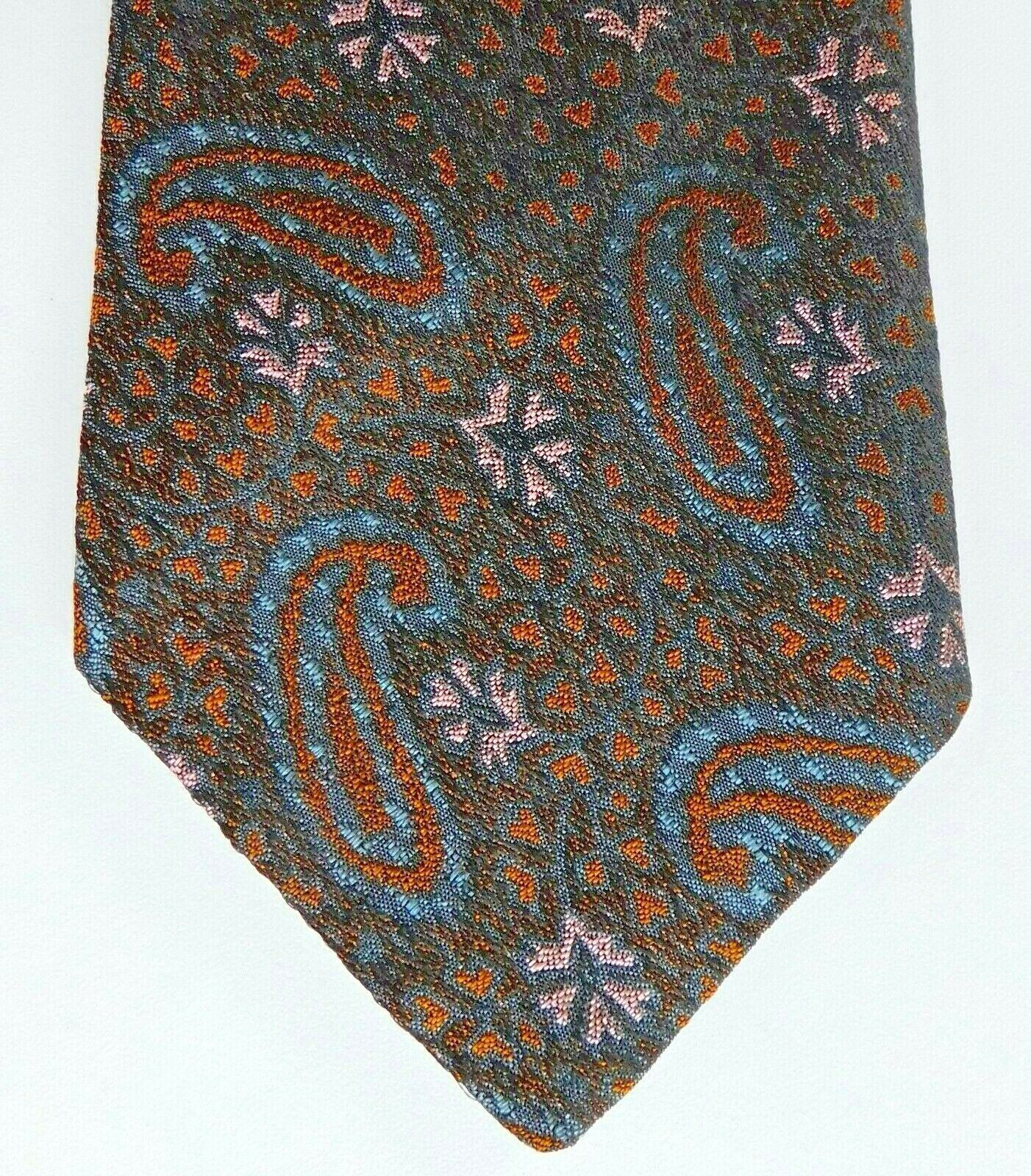 Silk Paisley tie Airey & Wheeler vintage 1960s 1970s English silk brocade
