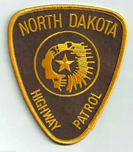 NORTH DAKOTA HIGHWAY PATROL - SHOULDER PATCH - IRON OR SEW-ON PATCH