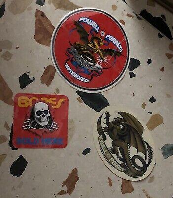 Vintage Powell Peralta Bones Dealer Window Skateboard Sticker NOS 1983