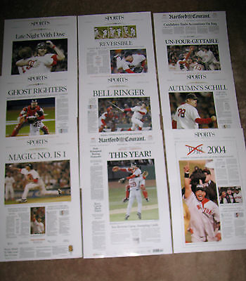 2004 Boston Red Sox Hartford Courant Reprints Alcs   World Series Championships