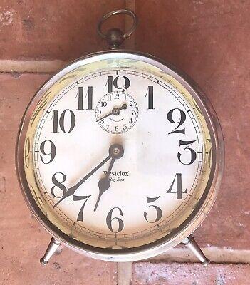 Westclox Big Ben Vintage Alarm Clock Canada. C 1920s Works but loses 20 min/day