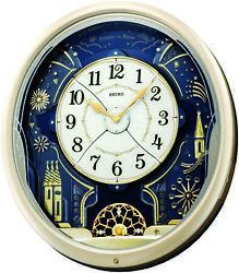 Seiko Melodies In Motion Musical Wall Clock with 20 LEDs & 12 Swarovski Crystals