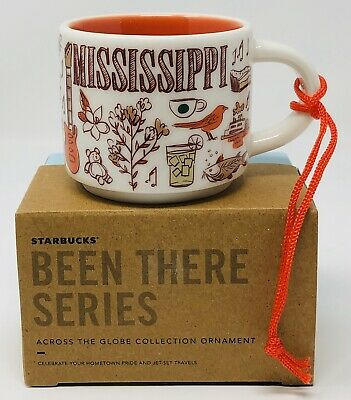 STARBUCKS Been There Mississippi 2 oz ORNAMENT MUG Espresso Cup New Limited Mini