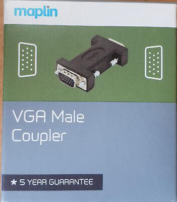 VGA Male Coupler - NEW - Maplin