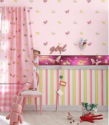 Kinder Bordüre 17m €1,05/m Fototapete Schmetterlingen Tapete Zimmer lila Poster