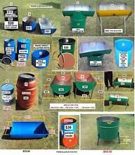 200 L, 44 Gal, Plastic or Steel Drums & 1000 L IBC for Aquaponics Orelia Kwinana Area Preview