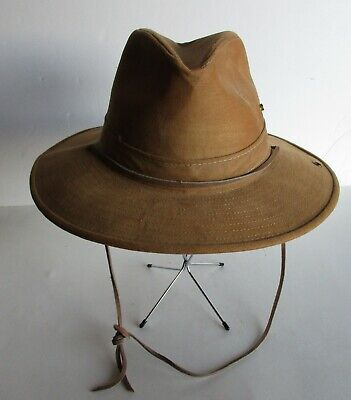 Men's Hatquarters USA By Henschel Hat Tan With Chin Strap Tan Small Made in USA