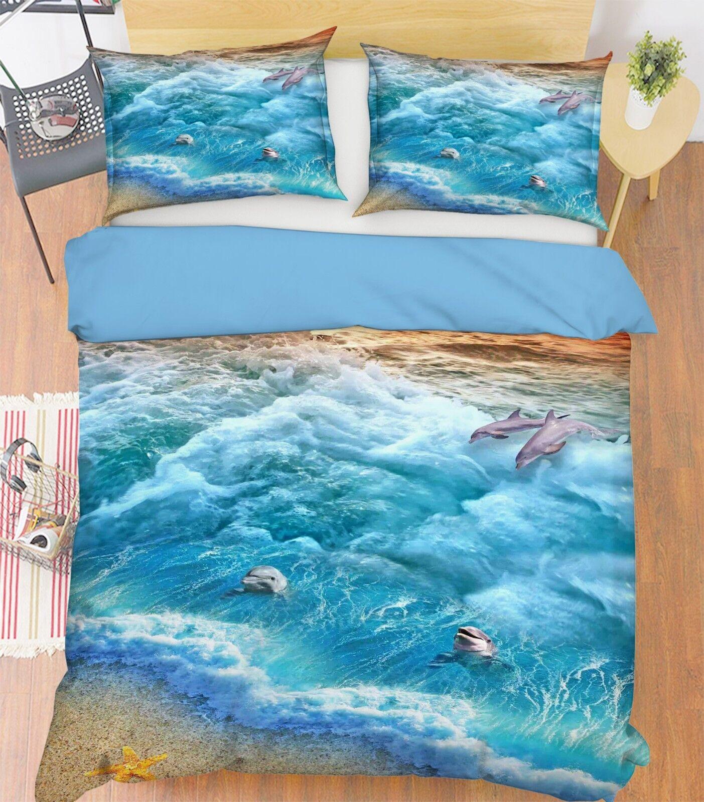 Good Morning Bettwäsche 5946 Delfin Blau Meer Ozean