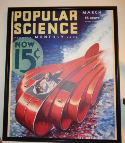 """Speedball Racer"" - Art Deco Machine Age True Canvas Print"
