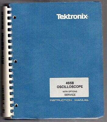 Tektronix Instruction Manual For The 465b Oscilloscope Sn B060000
