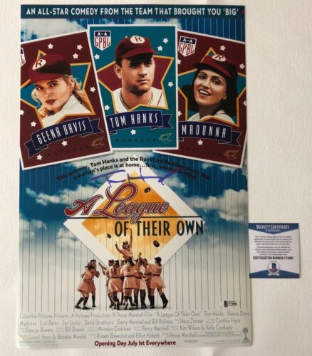 TOM HANKS SIGNED AUTO 'A LEAGUE OF THEIR OWN' 12X18 MINI MOVIE POSTER BECKETT