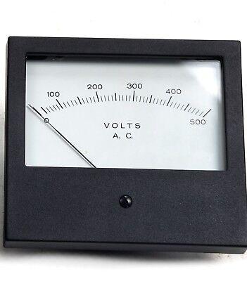 Hoyt 681 4-12 Rectangular Industrial Panel Meter 0-500 Volts Ac Voltmeter