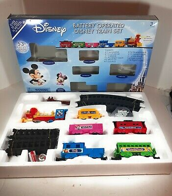 Disney Train Set 54 Pieces Battery Operated Mickey Mouse Minnie Mouse 3016 Works