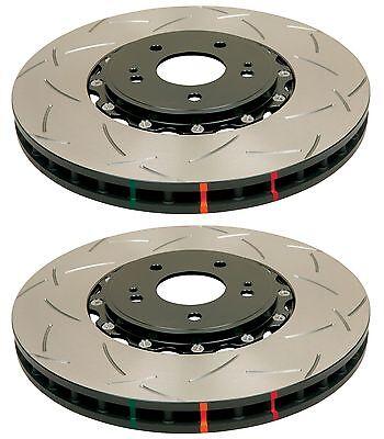 DBA FRONT 2-PIECE SLOTTED BRAKE ROTORS 5000 FOR 2004-2016 SUBARU IMPREZA WRX STI (2 Piece Brake Rotors)
