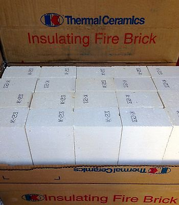 "K-23 Insulating Firebrick 4.5 x4.5 x1"" Fire Brick Morgan Thermal Ceramics 2300F"