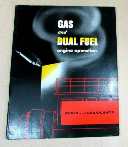 1951 Texaco The Texas Company Gas Dual Fuel Engine Operation Lubricants FREE S/H