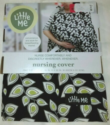 New Little Me Baby Breast Feeding  Nursing Cover Navy Green and White NIP
