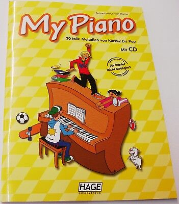 "MY  PIANO  EH 3713  KLASSIK BIS POP  "" 30 TOLLE MELODIEN ""  + CD"