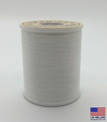 Sewing Thread 100% Glaced Cotton Spool White 150 Yards Best Quality Natural