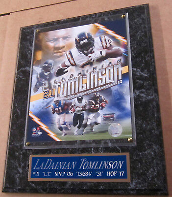LADAINIAN TOMLINSON CHARGERS FRAMED 8X10 PHOTO-MAN CAVE ART-12X15 WALL -
