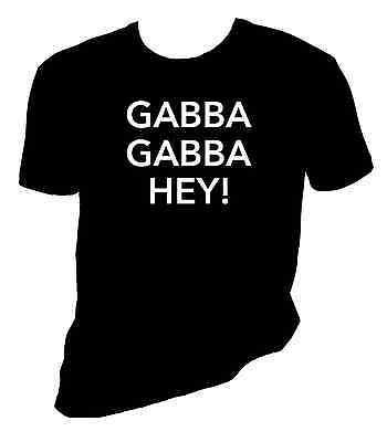 the ramones shirt, gabba gabba hey!, Joey Ramone, Sizes - Gabba Graphic Tee