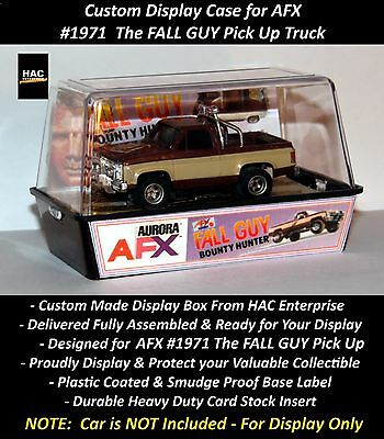 Custom Display Case AURORA AFX #1971 The FALL GUY Pick Up Truck   Lee Majors NEW