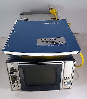 1 Used Tektronix Type 528 Waveform Monitor Mod W2w Wmanual Make Offer