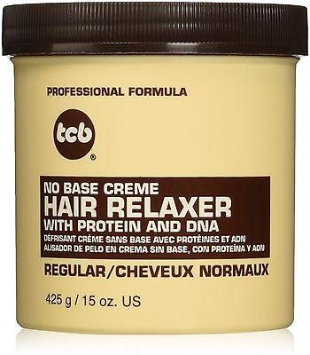 TCB No Base Creme Hair Relaxer, Regular 15 oz