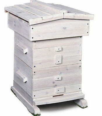 New Bee Hive Honey Beekeeping Frame Equipment 18 Frames Beehive Wooden Box