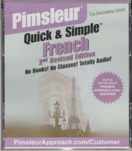 Pimsleur Quick & Simple French 2010 4 CD Set (8 Lessons) 2nd Revised Edition