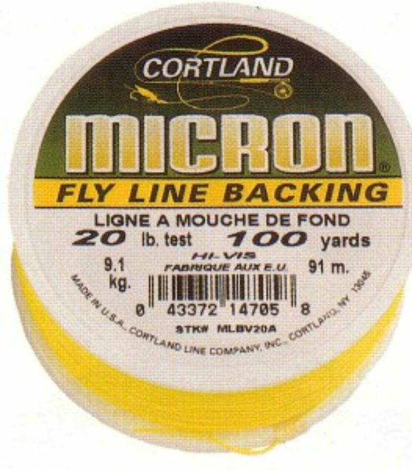 Neu! 50yards Backing Cortland Micron T: 20lbs = 9,1kg in Kirchheim unter Teck