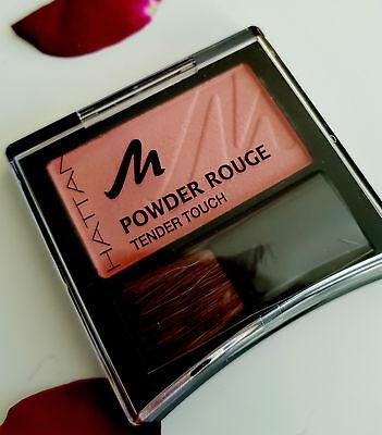 Rouge Blush (Manhattan Puder Powder Rouge Blush Tender Touch mit Vitamin Fresh Peach 53 N)