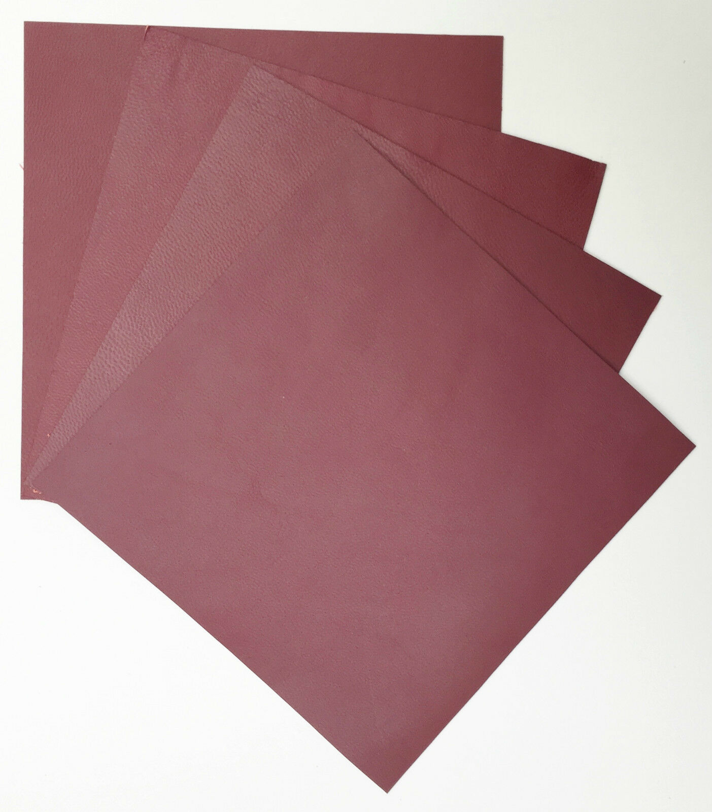 CRAFT PACK 6 @ 15CM X 15CM ASSORTED COLOURS LEATHER PIECES OF VEG-TAN SHEEPSKIN