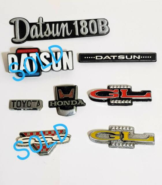 DATSUN 180B 1200 GL CAR BADGES LOGOS RARE & other badges