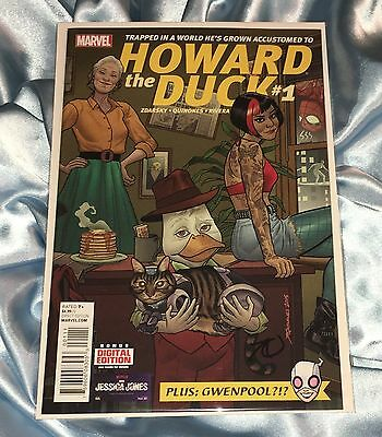 HOWARD THE DUCK #1~1st APPEARANCE OF GWENPOOL~HAND-SIGNED BY JOE QUINONES~