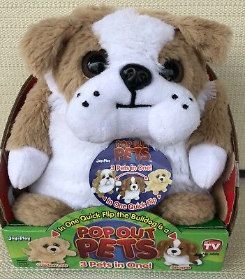Pop Out Pets Dog, Reversible Plush, Get 3 Stuffed Animals in One, New In Box - Stuffed Animals Dogs