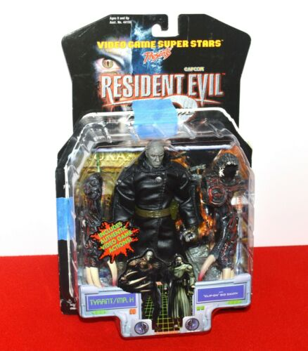 Resident Evil 2 Tyrant Mr. X Clip On Bio Cavity Action Figure Set Capcom ToyBiz