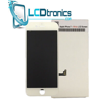 True GENUINE OEM iPhone 7 White Digitizer LCD Front Screen & Adhesive, Extra